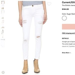 Current & Elliott the stiletto jeans 23